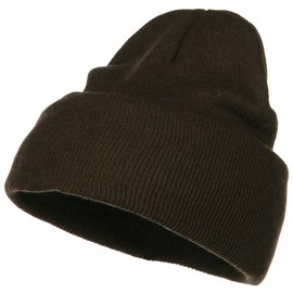 Stretch ECO Cotton Long Beanie - Brown