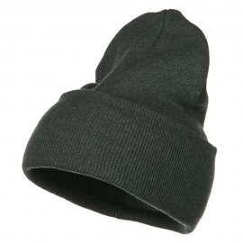 Stretch ECO Cotton Long Beanie - Charcoal