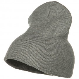 Stretch ECO Cotton Short Beanie - Grey