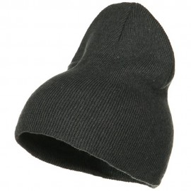 Stretch ECO Cotton Short Beanie - Charcoal