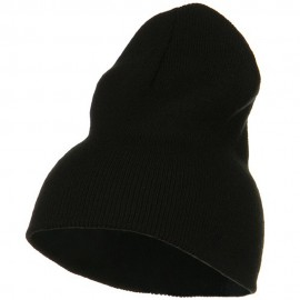 Big Stretch Plain Classic Short Beanie - Black
