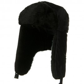 Fleece Trooper With Faux Fur Lining - Black