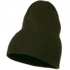 Big Stretch Plain Classic Short Beanie - Olive