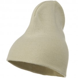 Big Stretch Plain Classic Short Beanie - Beige