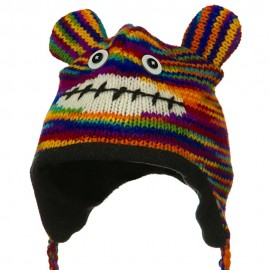 Toddler Animal Wool Ski Hat - Multi