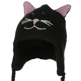 Toddler Animal Wool Ski Hat - Kittie