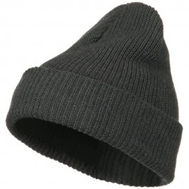 Eco Cotton Ribbed XL Cuff Beanie - Charcoal