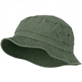 Big Size Washed Hat - Olive