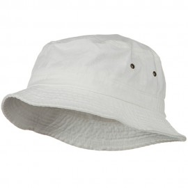 Big Size Washed Hat - White