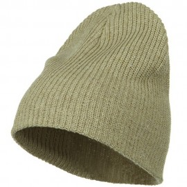 Eco Cotton Ribbed XL Classic Beanie - Beige
