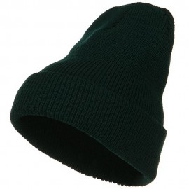 Stretch Heavy Wool Military Cuff Beanie - Spruce