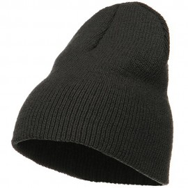 Stretch Heavy Wool Military Beanie - Charcoal
