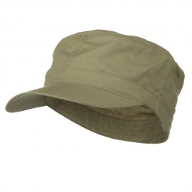 Big Size Fitted Cotton Ripstop Military Army Cap - Khaki