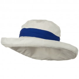 UPF 50+ Canvas Trimmed Crown Draw String Hat