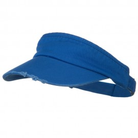 Normal Dyed Frayed Wide Bill Visor - Royal