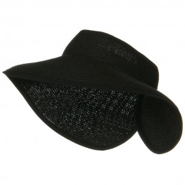 UPF50+ Tweed Roll Up Visor - Black