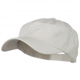 6 Panel Washed Polo Cap - White