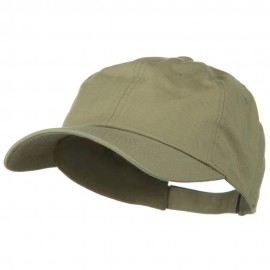 6 Panel Washed Polo Cap - Khaki