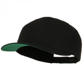 Brushed Cotton Twill High Profile Extra Size Cap - Black