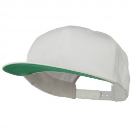 Brushed Cotton Twill High Profile Extra Size Cap - White