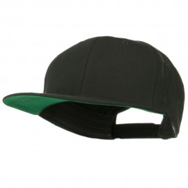 Brushed Cotton Twill High Profile Extra Size Cap - Charcoal