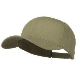 New Big Size Deluxe Cotton Cap - Khaki