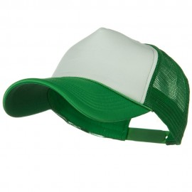 Big Foam Mesh Truck Cap - White Kelly