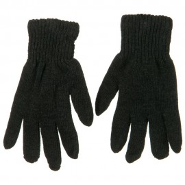 Men's Plain Knit Glove - Charcoal