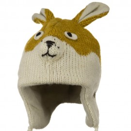 Adult Animal Wool Ski Beanie - New Rabbit