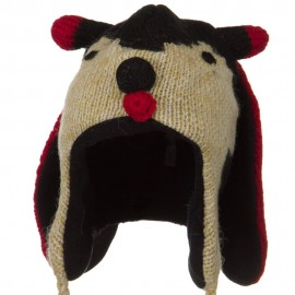 Adult Animal Wool Ski Beanie - Lady Bug