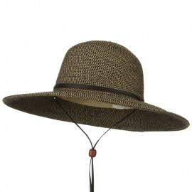 Flat 4 Inches Brim Straw Hat