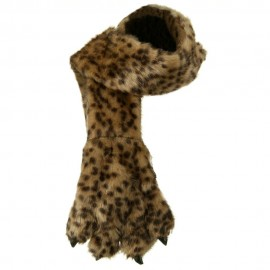 Critter Animal Faux Fur Scarf with Paw