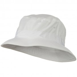 Water Repellent Microfiber Golfer Hat - White