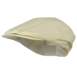 Big Size Washed Canvas Ivy Cap - Beige