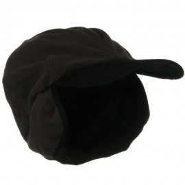 Oversize Fleece Warmer Flap Cap - Brown