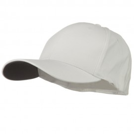 Structured Brushed Twill Flexible Big Size Cap - White