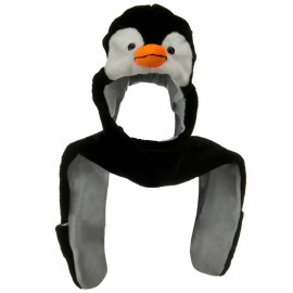 SW Long Mitten Animal Hat - Penguin