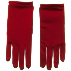 9 inch Satin Glove - Red