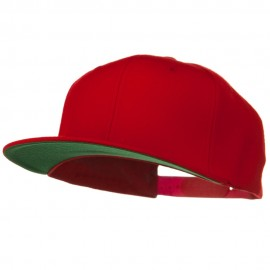 Wool Blend Prostyle Snapback Cap - Red