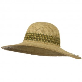 Raffia Crochet Two Tone Straw Hat