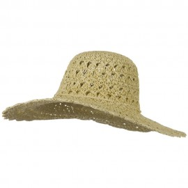 Toyo 5 Inch Flat Brim Fancy Crochet Hat