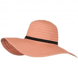 Ladies Fashion Toyo Solid Hat - Peach