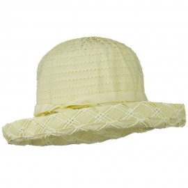 Ribbon Toyo Kettle Brim Hat