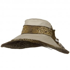 Woman's Hat Cheetah 6 Inch Wide Brim Hat