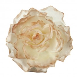 Large Open Rose Silk Two Tone Clip and Pin