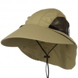 UV Large Bill Flap Cap - Khaki