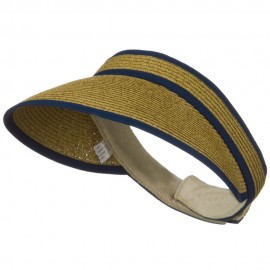 UPF 50+ Woman's Trim Visor - Navy