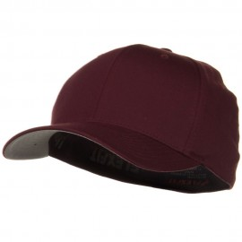 Wooly Combed Twill Flexfit Cap-Maroon