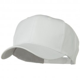 Solid Cotton Twill Pro Style Cap - White