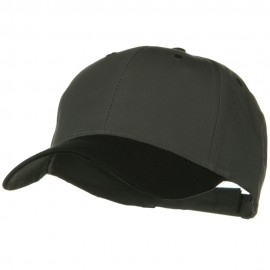Two Tone Cotton Twill Low Profile Strap Cap - Black Charcoal